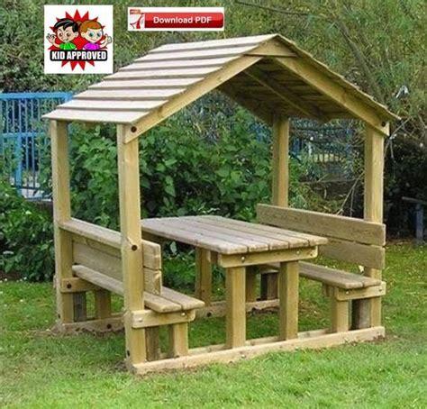 gazebo planpdf planpavilion plancovered picnic table