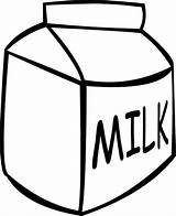 Milk Carton Coloring Clipart Box Draw Colouring Outline Jug Clip Gallon Pages Cliparts Netart sketch template