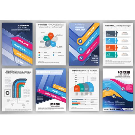infographic template business brochure template