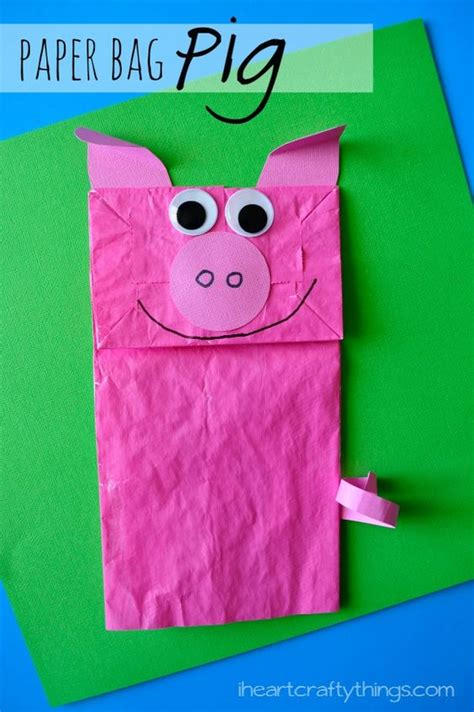paper bag pig craft day book bags and crafts 301 | 619710c174ee758b1fb05cd6efdcb519