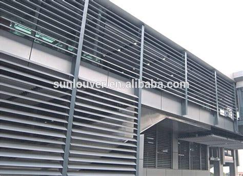 exterior aerofoil aluminum window louver fins with olive