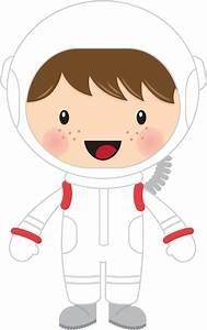 Clipart - Little Boy Astronaut