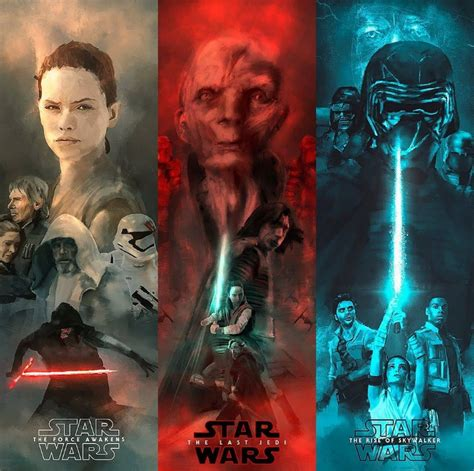 Sequel Trilogy fan posters by @rolarafal : TheSequels