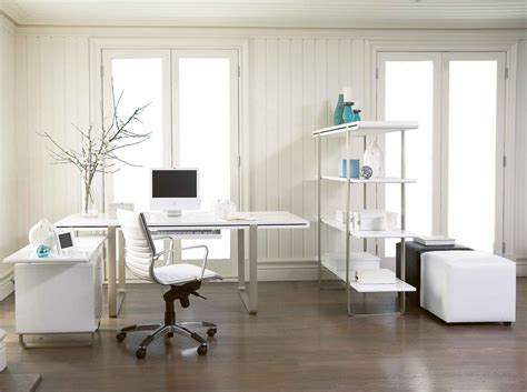 modern corner desk with green screen for stylish decorating ideas for office cubicles with unique tropical interior home office modern white home office decor with leather