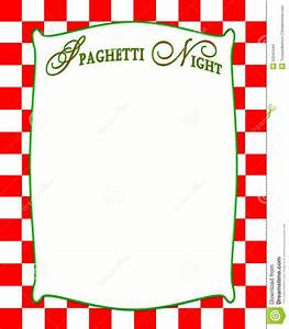 Spaghetti Night Background In Red Checkered Pattern Stock ...
