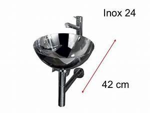 Lave Main Inox : lave mains en inox vasque 24 cm sur support inox inox 24 ~ Melissatoandfro.com Idées de Décoration
