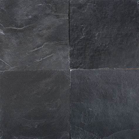black slate floor tiles obsidian black slate 12x12 16x16 gauged