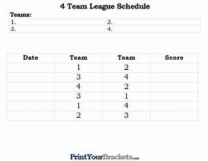 little league baseball schedule template pictures to pin With 7 team schedule template