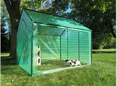 Large Outdoor Cat Run House Kennel for around $100 All