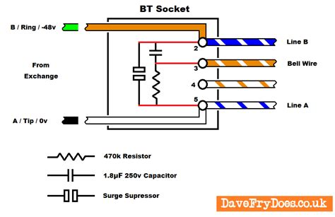 wire diagram bt master socket install an nte5a bt openreach etc master socket