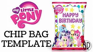 My Little Pony Chip Bag Favor Free template included