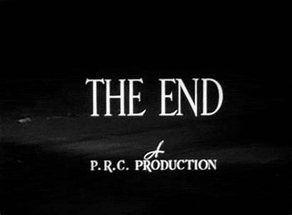 End Gifs Film Fin Movie Animados Noir