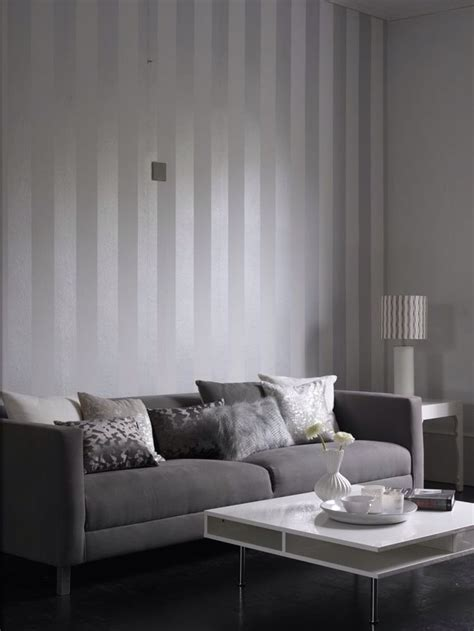 Graue Tapeten Wohnzimmer by 1000 Ideas About White Wallpaper On Black And