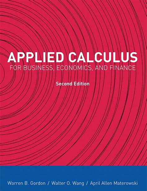 Applied Calculus for Business, Economics, and Finance ...