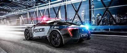 Police 4k Sportscar Sports Lights Supercar 1080p