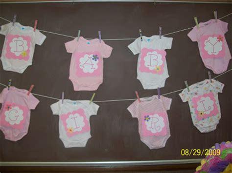 onesie baby shower banner