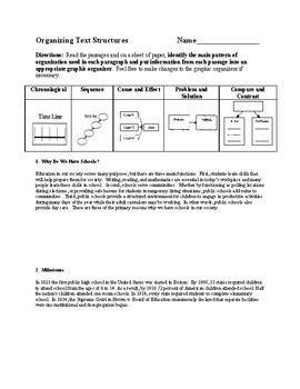 Text Structures Worksheet  Kidz Activities