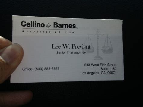 Cellino And Barnes Number by Cellino Barnes 17 Reviews Personal Injury 633