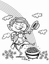 Leprechaun Coloring Pages sketch template