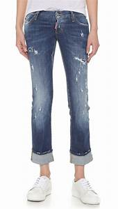 Dsquaredu00b2 Sexy Rolled Up Flare Jeans in Blue | Lyst