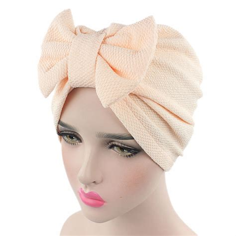 women  big bow turban womens hats hair accessories
