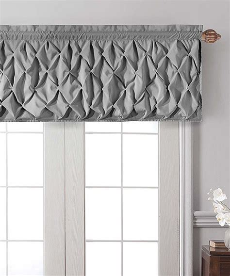 Grey Window Valances by Smocked Gray Valance Custom Window Treatment Ideas