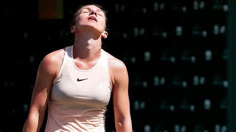 top ranked simona halep loses opening match  miami open