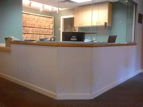 reception desk  trim greater portland homeworks llc