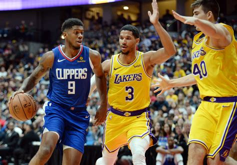 lakers  clippers latest team stats roster  winner