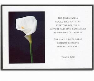 6 bereavement thank you cards free sample example With sympathy thank you cards templates