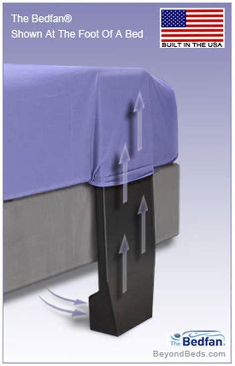 foot fan for bed bedfan original patented black model at beyondbeds com