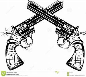 Crossed Pistols Clipart