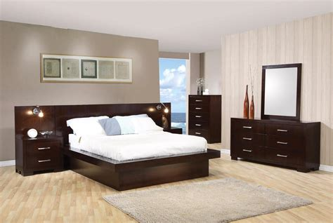 Bedroom Sets Contemporary by Modern Platform Cappuccino Finish Bedroom Set Free