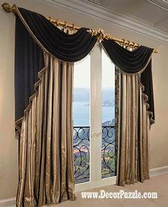 French curtains ideas modern luxury curtains black scarf for Curtains for bedroom windows with designs 2015