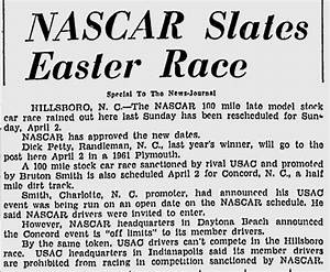 Bench Racing From the Volunteer State: April 2, 1961- USAC ...