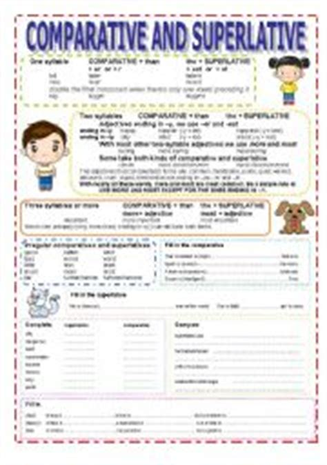 comparative and superlative esl worksheet by sea