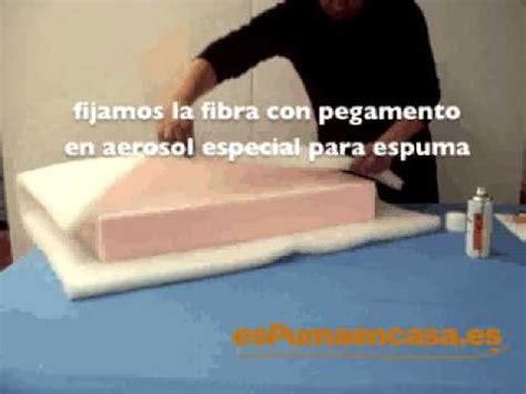 espuma soft para sofa envolver con fibra un almohadón de sofá o tresillo youtube