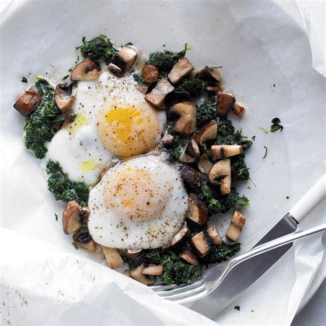 eggs  mushrooms  spinach