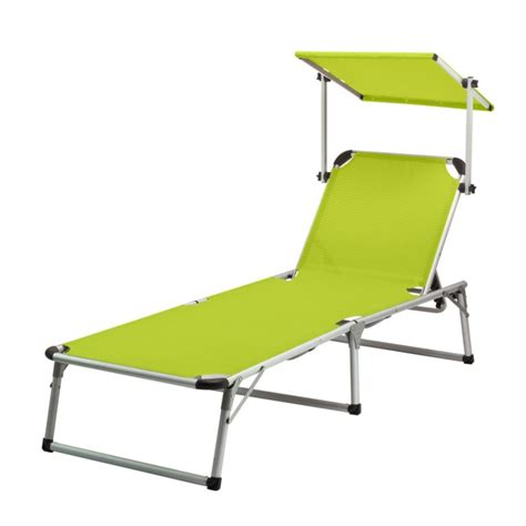 chaise longue vert anis chaise longue transat avec pare soleil vert anis quot colorado springs quot plein air cing