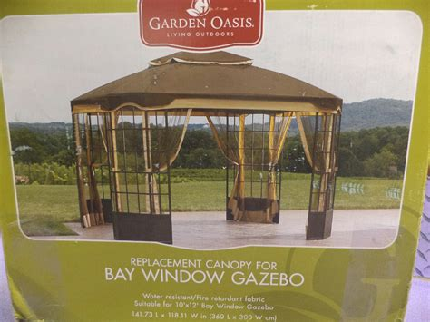 hton bay gazebo garden oasis bay window gazebo replacement canopy garden