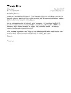 Winning Cover Letters Leading Professional Delivery Driver Cover Letter Exles Resources Myperfectcoverletter