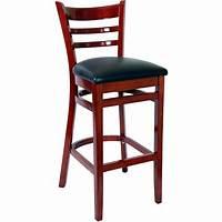 bar stools with backs Ladder Back Wood Bar Stools