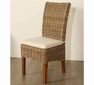 Lot de 2 chaises en kubu tressé 5936