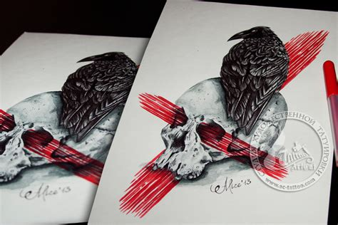 Raven And Skull By Helenaalice On Deviantart