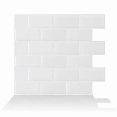Backsplash Tiles Subway Wall Stick Peel Tile