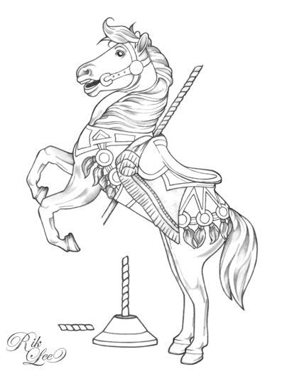 Carousel Horse Drawings   Carousel - © Rik LeeHere's a
