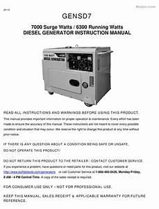 Buffalo Tools Gensd7 Instruction Manual Pdf Download