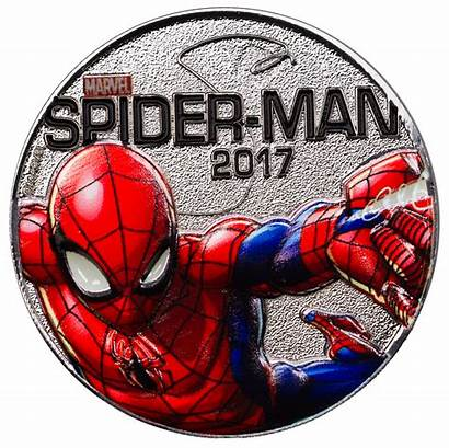Spider Silver Marvel Coin Fiji Ups Series