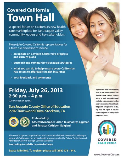 covered california hosts town hall  stockton  friday