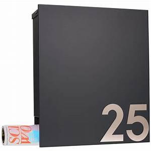 Hausnummer Ral 7016 : mocavi box 111 design briefkasten mit zeitungsfach anthrazit grau ral 7016 wandbriefkasten ~ Frokenaadalensverden.com Haus und Dekorationen